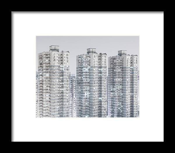 Population Explosion Framed Print featuring the photograph Buildings by Creativited