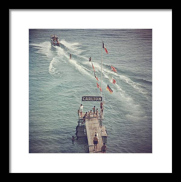 People Framed Print featuring the photograph Cannes Watersports by Slim Aarons