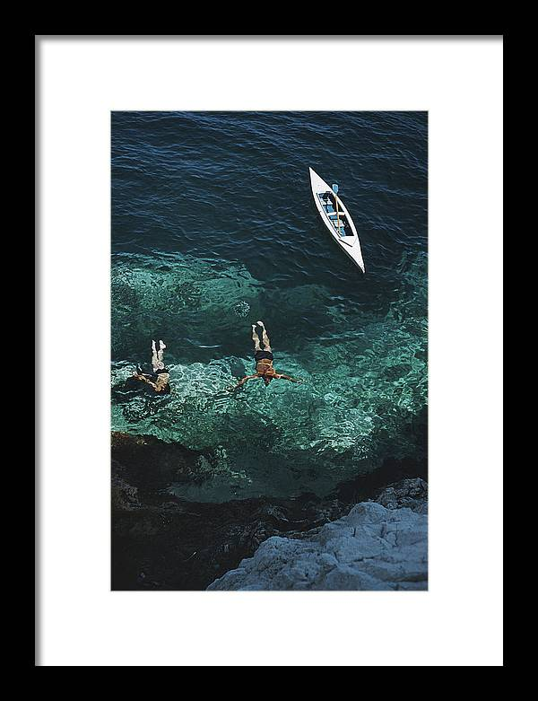 People Framed Print featuring the photograph Capri Holiday by Slim Aarons