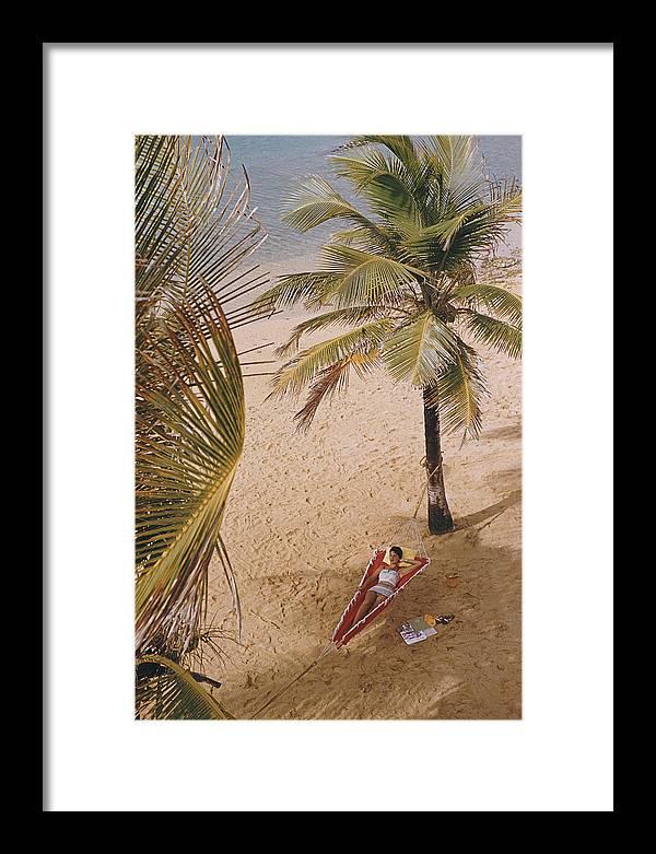 Caribe Hilton Beach Framed Print
