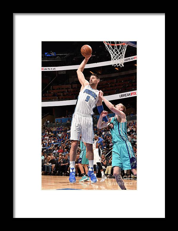 Nba Pro Basketball Framed Print featuring the photograph Charlotte Hornets V Orlando Magic by Gary Bassing