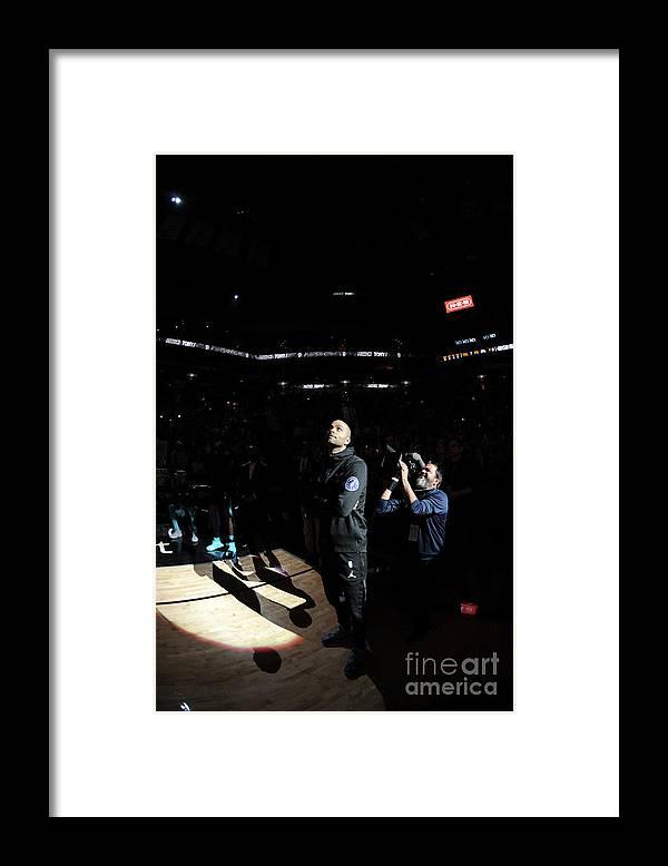 Nba Pro Basketball Framed Print featuring the photograph Charlotte Hornets V San Antonio Spurs by Mark Sobhani