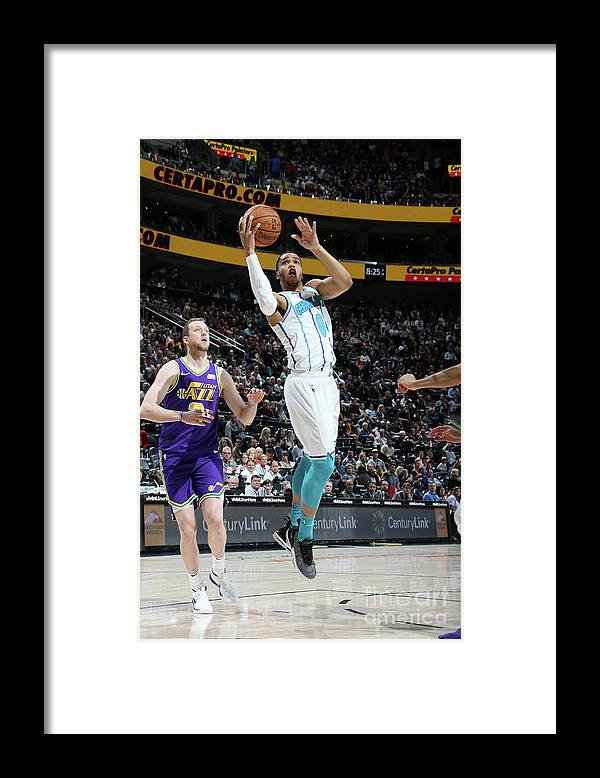 Nba Pro Basketball Framed Print featuring the photograph Charlotte Hornets V Utah Jazz by Melissa Majchrzak