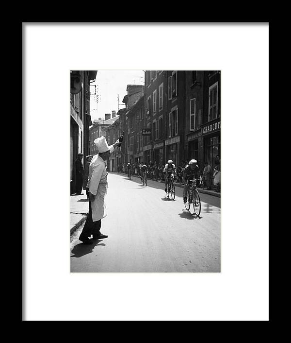Recreational Pursuit Framed Print featuring the photograph Chef Toasts Tour by Bert Hardy