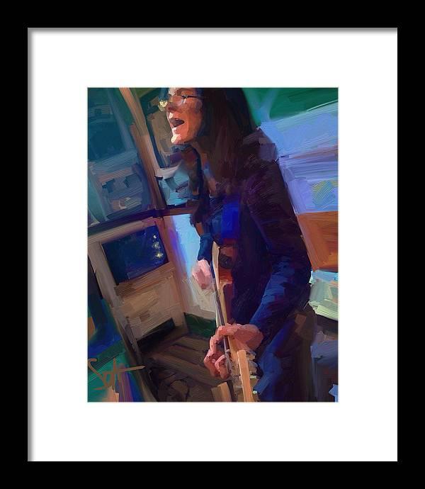 Chelsea Saddler Framed Print featuring the digital art Chelsea by Scott Waters
