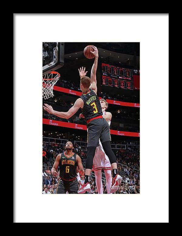 Atlanta Framed Print featuring the photograph Chicago Bulls V Atlanta Hawks by Jasear Thompson