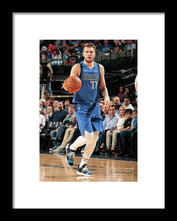 Nba Pro Basketball Framed Print featuring the photograph Chicago Bulls V Dallas Mavericks by Glenn James