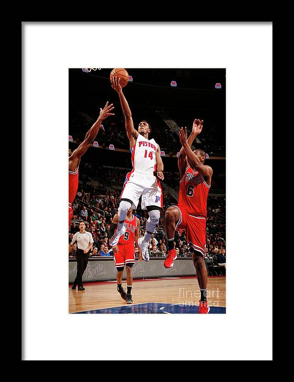Nba Pro Basketball Framed Print featuring the photograph Chicago Bulls V Detroit Pistons by Brian Sevald