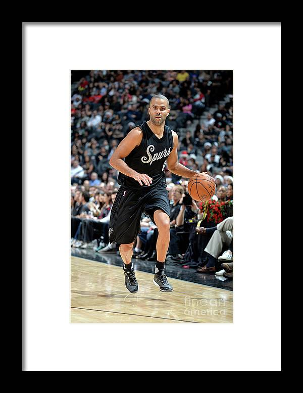 Nba Pro Basketball Framed Print featuring the photograph Chicago Bulls V San Antonio Spurs by Mark Sobhani