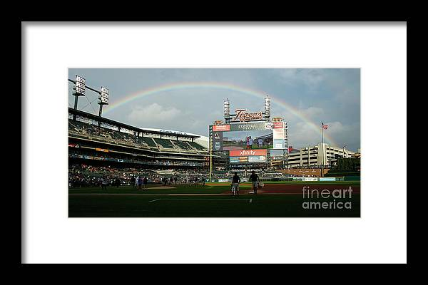 American League Baseball Framed Print featuring the photograph Chicago Cubs V Detroit Tigers by Duane Burleson