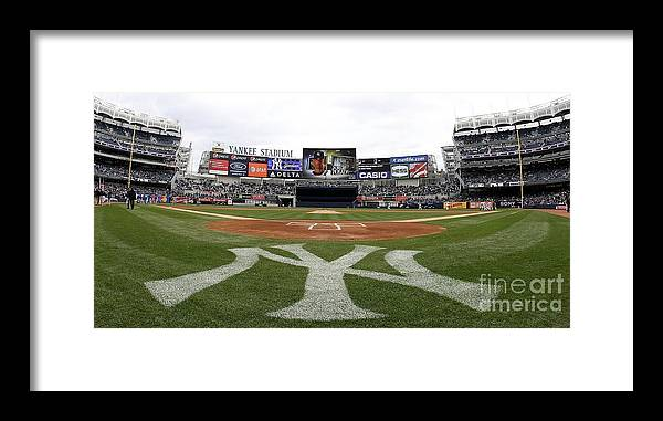 American League Baseball Framed Print featuring the photograph Chicago Cubs V New York Yankees by Nick Laham