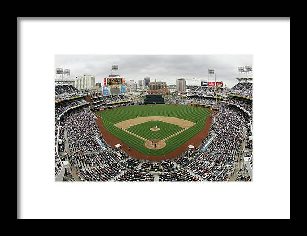 Scenics Framed Print featuring the photograph Chicago Cubs V San Diego Padres by Donald Miralle