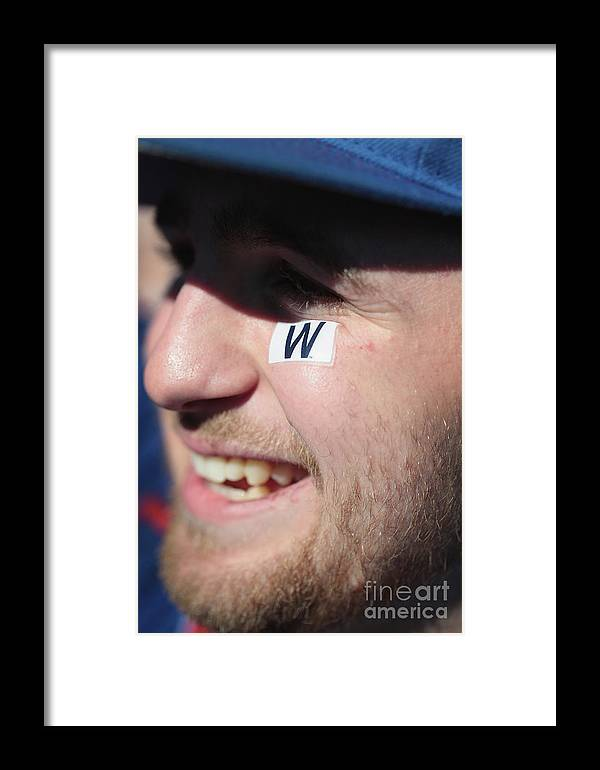 American League Baseball Framed Print featuring the photograph Chicago Cubs Victory Celebration 1 by Scott Olson