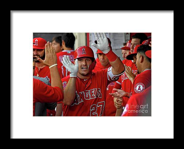People Framed Print featuring the photograph Chicago White Sox V Los Angeles Angels 1 by Jayne Kamin-oncea