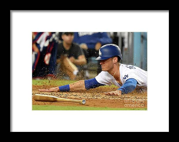 People Framed Print featuring the photograph Chicago White Sox V Los Angeles Dodgers 1 by Jayne Kamin-oncea