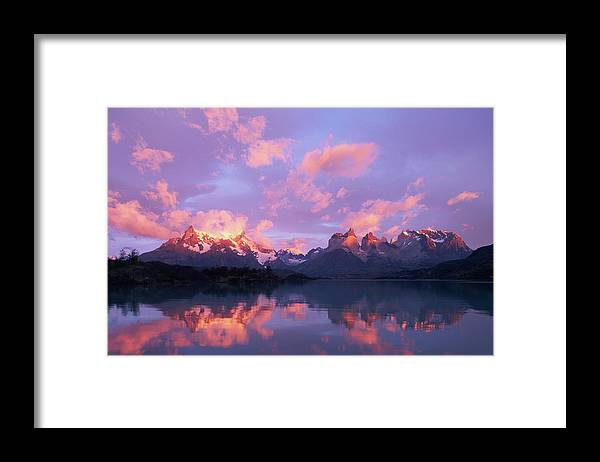 Scenics Framed Print featuring the photograph Chile, Patagonia, Torres Del Paine Np by Paul Souders