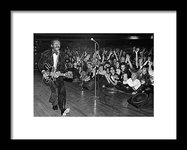 Rock Music Framed Print featuring the photograph Chuck Berry In Concert At The Palladium by George Rose