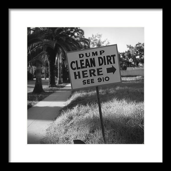 1950-1959 Framed Print featuring the photograph Clean Dirt by Slim Aarons