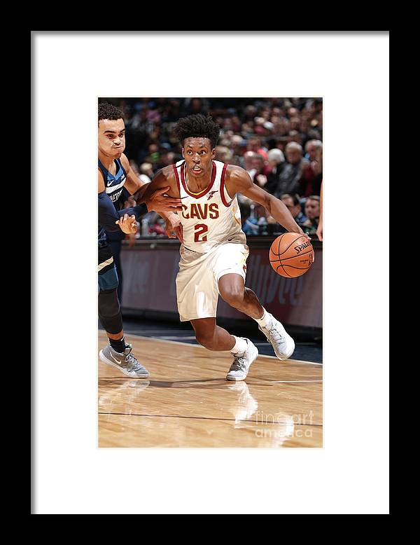 Nba Pro Basketball Framed Print featuring the photograph Cleveland Cavaliers V Minnesota by David Sherman