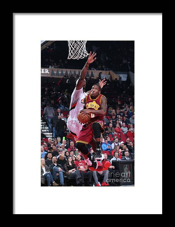 Nba Pro Basketball Framed Print featuring the photograph Cleveland Cavaliers V Portland Trail by Sam Forencich