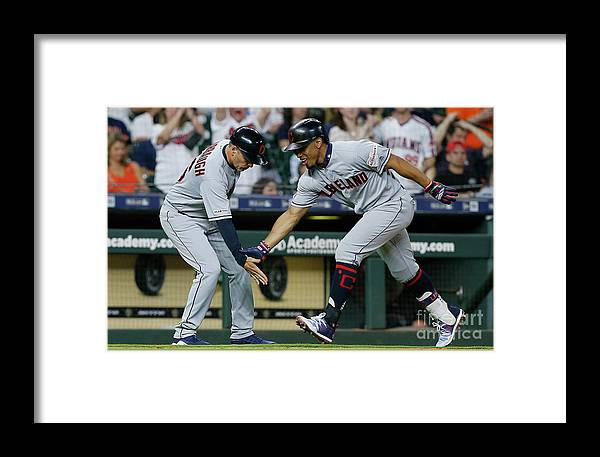People Framed Print featuring the photograph Cleveland Indians V Houston Astros 1 by Bob Levey