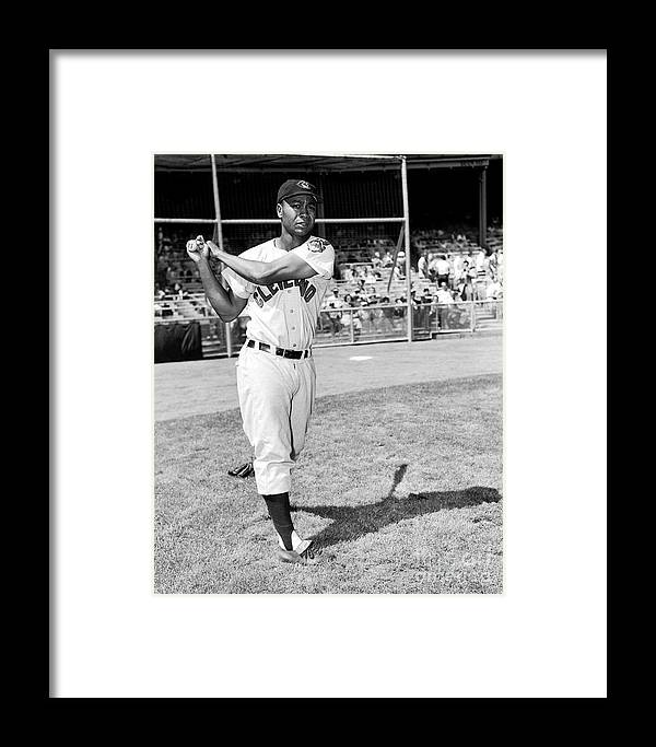 People Framed Print featuring the photograph Cleveland Indians V New York Yankees 1 by Kidwiler Collection