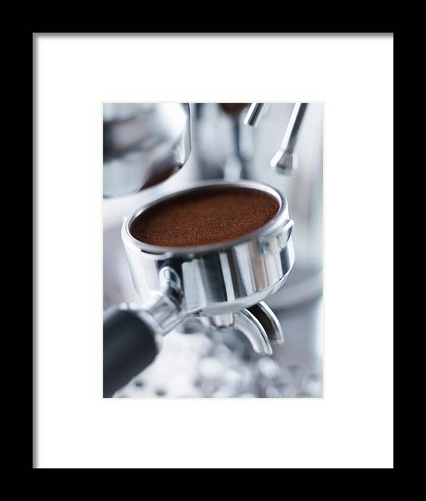 Machinery Framed Print featuring the photograph Close Up Of Ground Espresso In 1 by Adam Gault