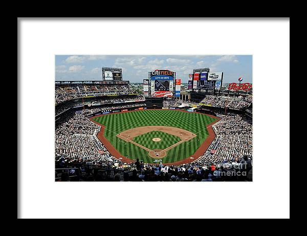 Citi Field Framed Print featuring the photograph Colorado Rockies V New York Mets by G Fiume