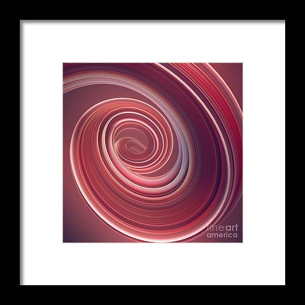 Curve Framed Print featuring the photograph Colored Twisted Shape. Computer by Andrey a