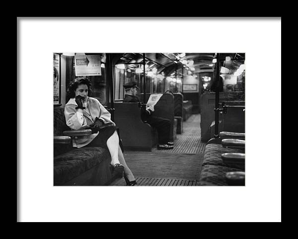 Working Framed Print featuring the photograph Commuter by Bert Hardy