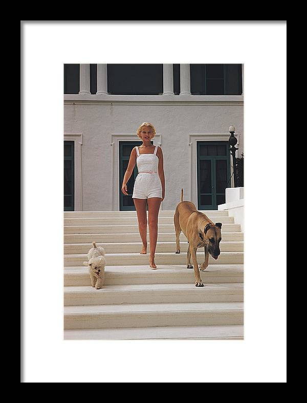 People Framed Print featuring the photograph C.z. Guest 1 by Slim Aarons
