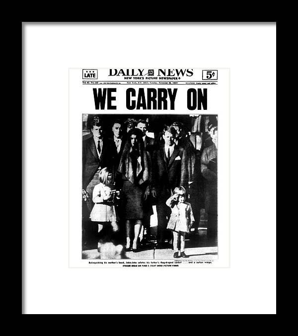 Vertical Framed Print featuring the photograph Daily News Front Page by New York Daily News Archive