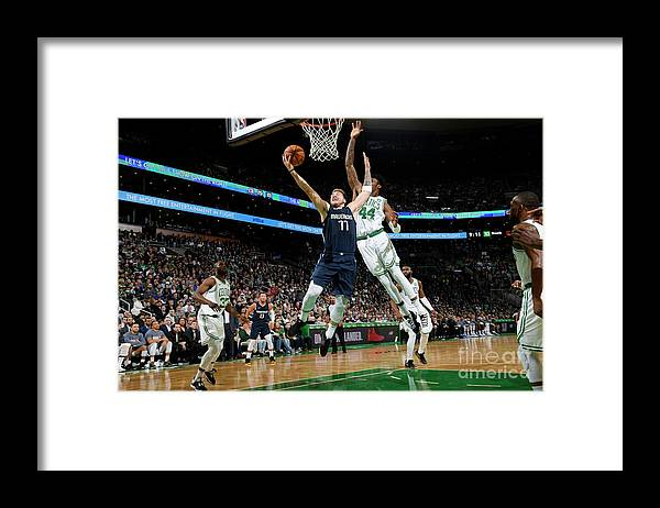 Nba Pro Basketball Framed Print featuring the photograph Dallas Mavericks V Boston Celtics by Brian Babineau
