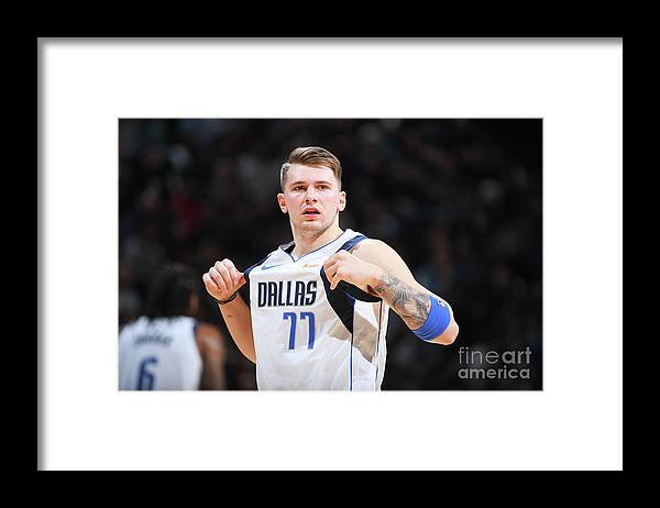 Nba Pro Basketball Framed Print featuring the photograph Dallas Mavericks V Denver Nuggets by Garrett Ellwood