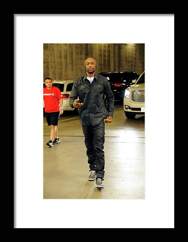 Jason Terry Framed Print featuring the photograph Dallas Mavericks V Houston Rockets- by Bill Baptist