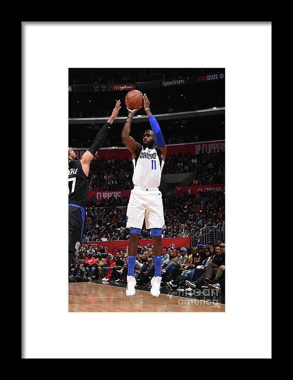 Tim Hardaway Jr. Framed Print featuring the photograph Dallas Mavericks V La Clippers by Adam Pantozzi