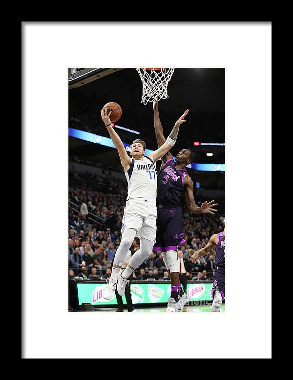Nba Pro Basketball Framed Print featuring the photograph Dallas Mavericks V Minnesota by Jordan Johnson