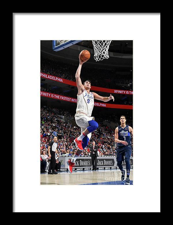 Sports Ball Framed Print featuring the photograph Dallas Mavericks V Philadelphia 76ers by Jesse D. Garrabrant