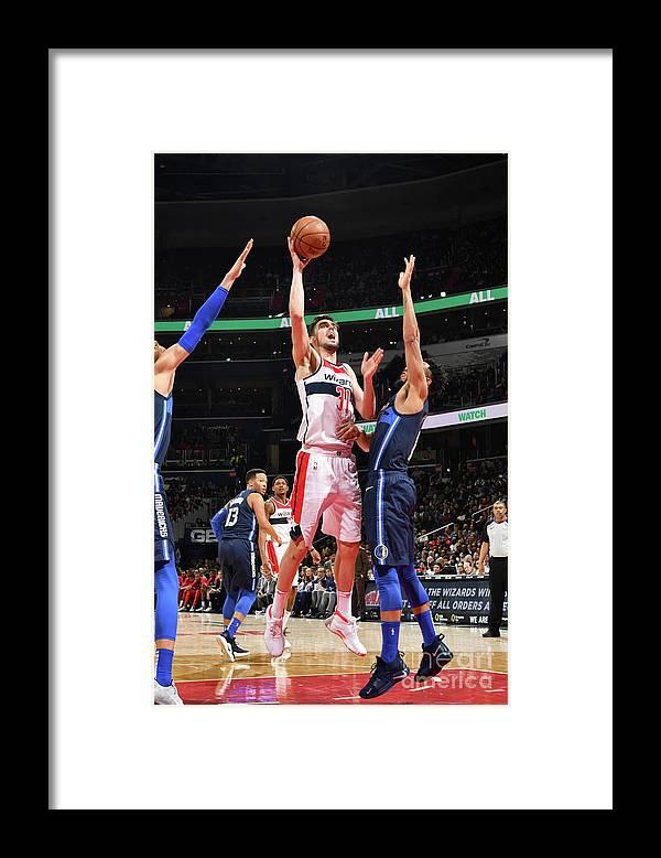 Nba Pro Basketball Framed Print featuring the photograph Dallas Mavericks V Washington Wizards by Jesse D. Garrabrant