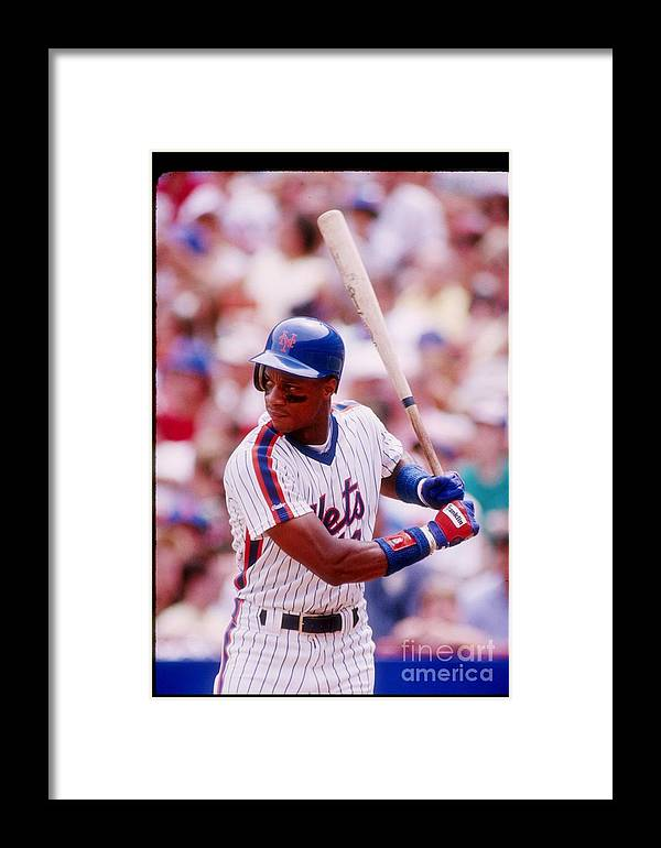 1980-1989 Framed Print featuring the photograph Darryl Strawberry 1 by Getty Images
