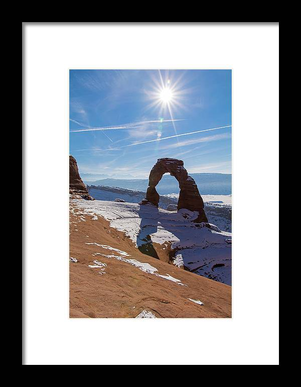 Delicate Arch Framed Print featuring the photograph Delicate Arch by Robert VanDerWal