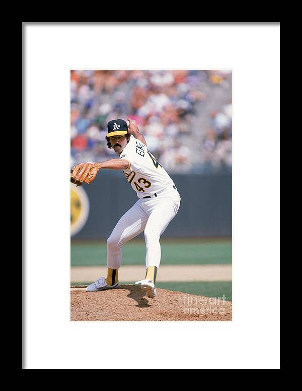 1980-1989 Framed Print featuring the photograph Dennis Eckersley by Otto Greule Jr