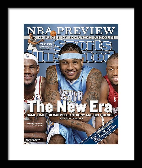 Magazine Cover Framed Print featuring the photograph Denver Nuggets Carmelo Anthony Sports Illustrated Cover by Sports Illustrated