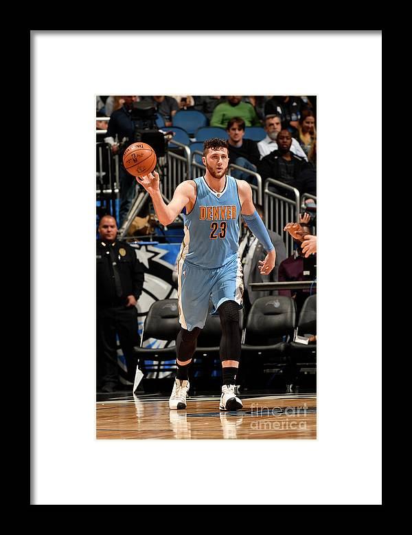 Jusuf Nurkić Framed Print featuring the photograph Denver Nuggets V Orlando Magic by Fernando Medina