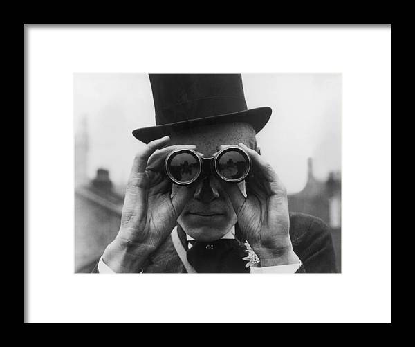 One Man Only Framed Print featuring the photograph Derby Spectator by Topical Press Agency