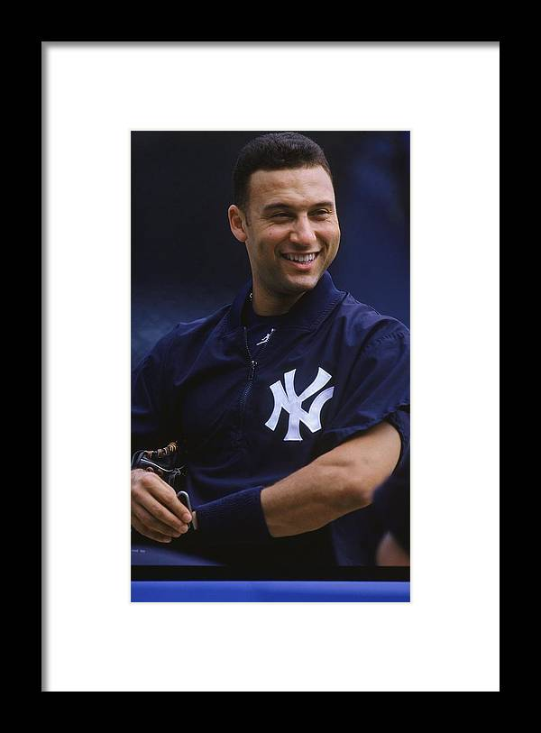 People Framed Print featuring the photograph Derek Jeter 2 by Jamie Squire