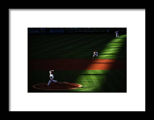 Second Inning Framed Print featuring the photograph Detroit Tigers V Los Angeles Angels Of 1 by Harry How