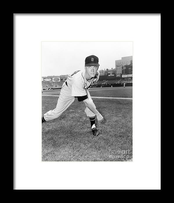 American League Baseball Framed Print featuring the photograph Detroit Tigers V New York Yankees 1 by Kidwiler Collection