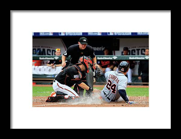 Game Two Framed Print featuring the photograph Division Series - Detroit Tigers V by Rob Carr