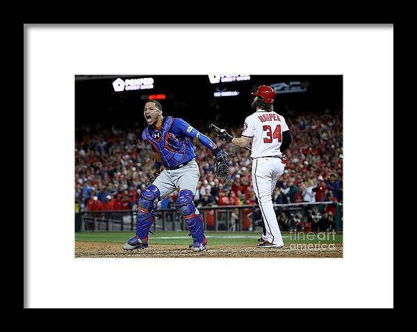 American League Baseball Framed Print featuring the photograph Divisional Round - Chicago Cubs V 1 by Win Mcnamee